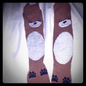 Teddy bear socks & sheep footies